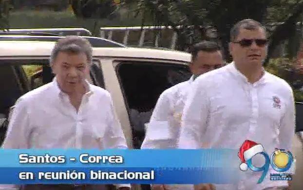 Presidentes Santos y Correa se reunieron en Yumbo en el IV Gabinete Binacional