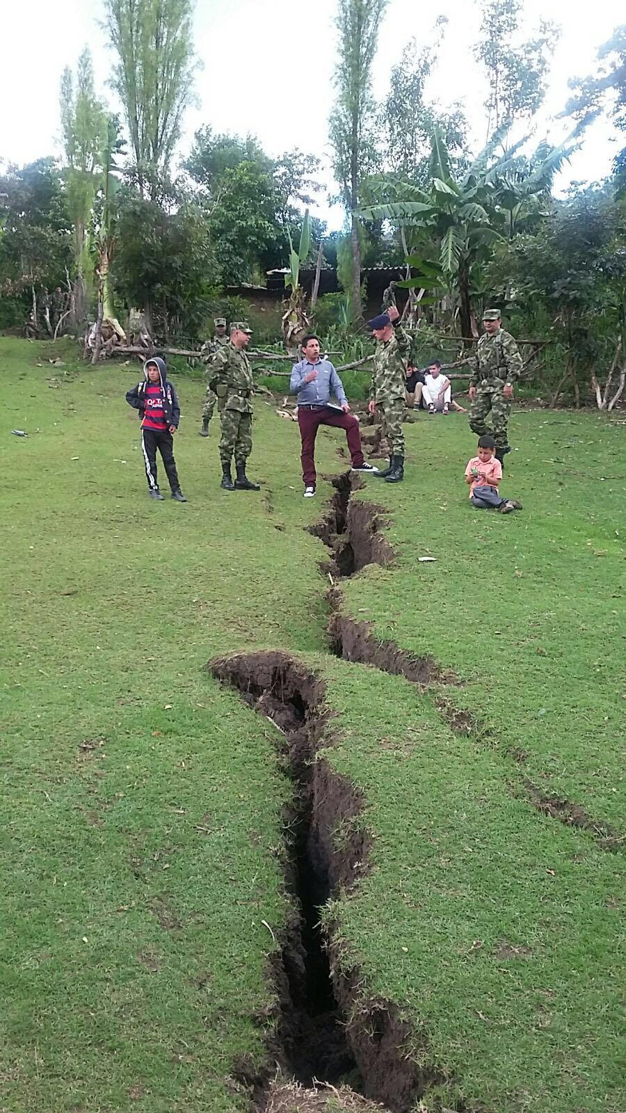 En Tablón de Gómez, Nariño, la tierra se está agrietando