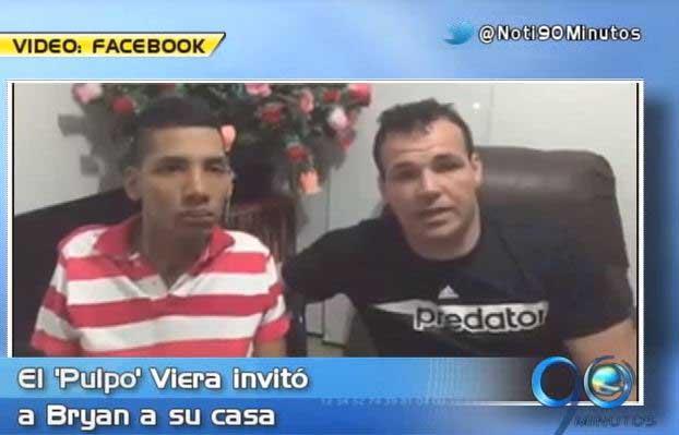 Alexis Viera se solidarizó con Bryan Mauricio Hoyos en su casa