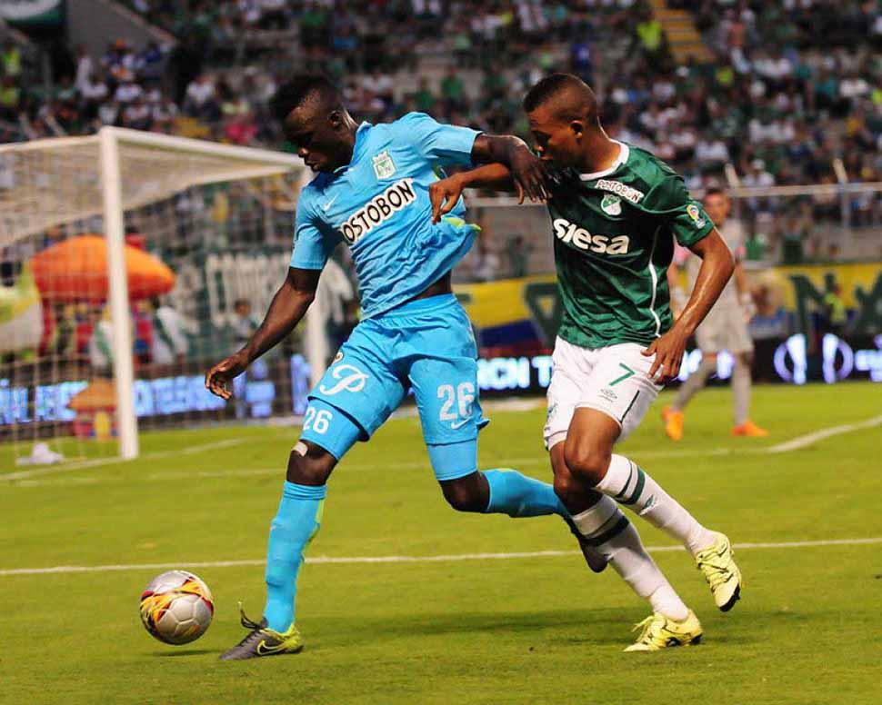 Nacional venció 2-0 a Deportivo Cali en la primera final de la Superliga