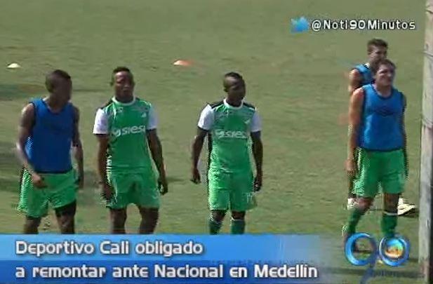 Deportivo Cali le apunta a la remontada ante Nacional en Medellín
