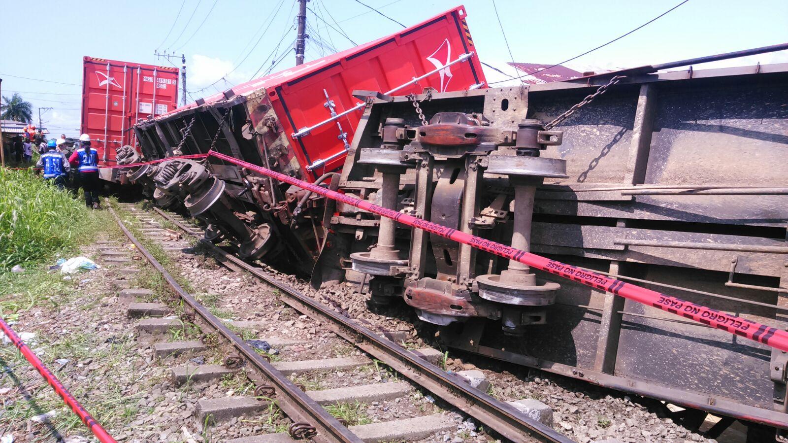 Un tren se descarriló en el sector de 14 de Julio, en Buenaventura