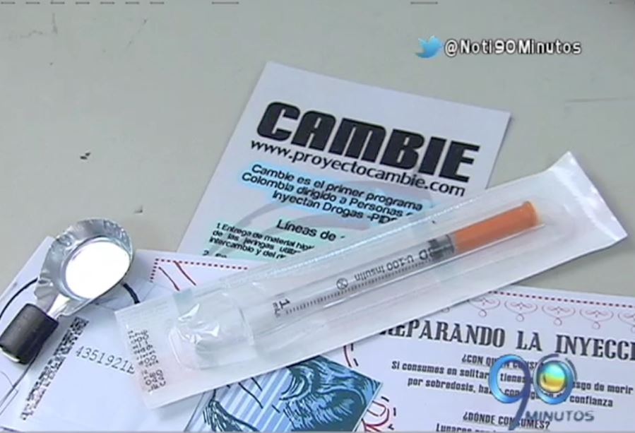 Adictos a la heroína recibieron kits de consumo por parte de la Alcaldía