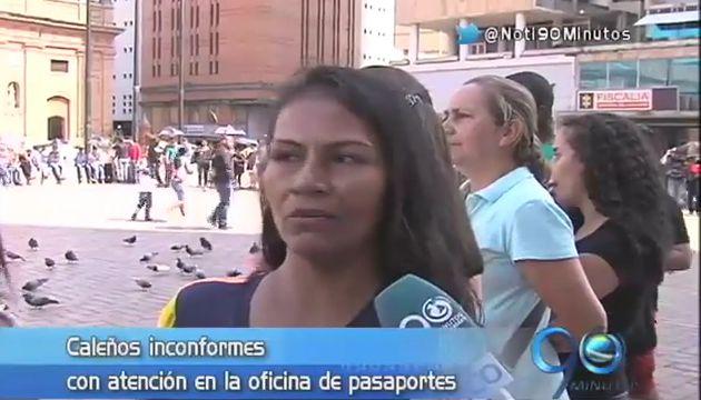 Inconformidad por nuevo colapso en oficina de pasaportes de Cali