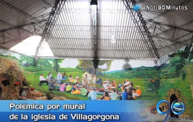 Polémica en Villagorgona, Candelaria, por el mural de una iglesia