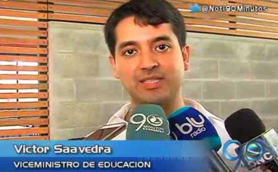 Viceministro de Educación anunció reintegro de 12 colegios de cobertura