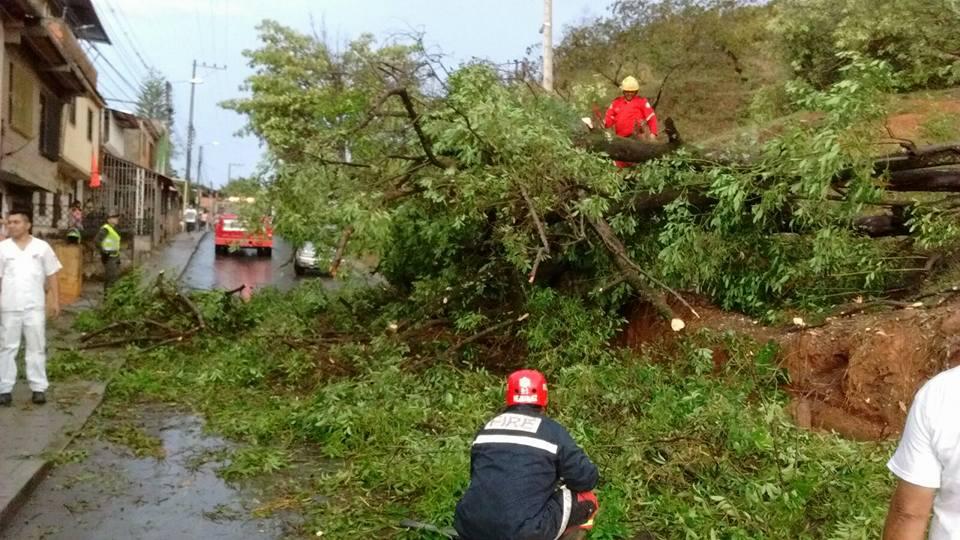 Emergencia por fuerte vendaval en Santander de Qulichao