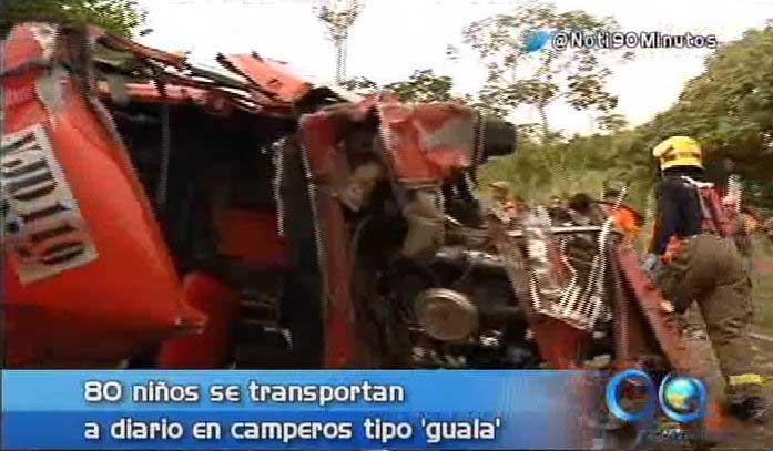 Accidente deja 23 personas lesionadas, sucedido en la vía La Reforma
