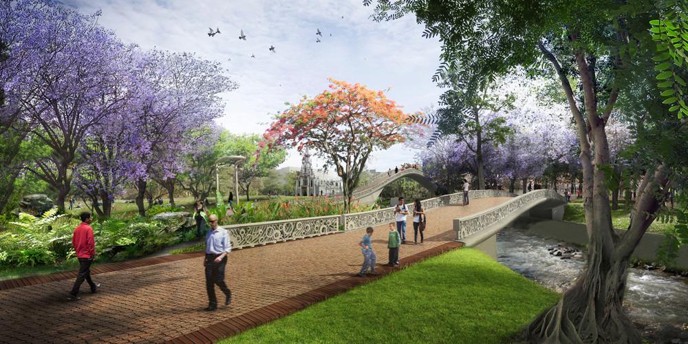 Este es el Plan de desvíos por obras del Parque Lineal Río Cali