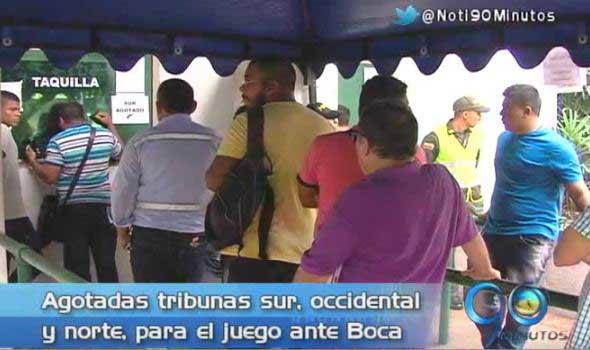 Boletería está casi agotada para el partido del Deportivo Cali vs Boca