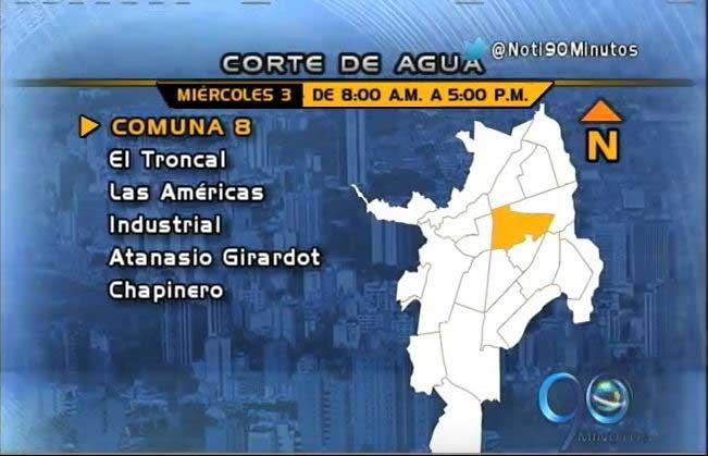 Estos son los barrios afectados por el corte de agua en la comuna 2 y 8