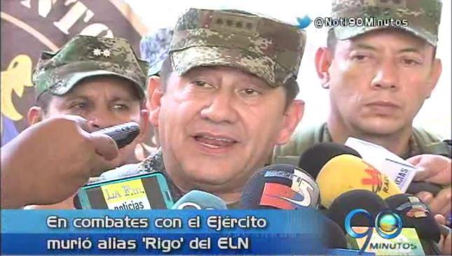 Ejército dio de baja a Alias 'Rigo' del ELN, inculpado de secuestro en el 97′
