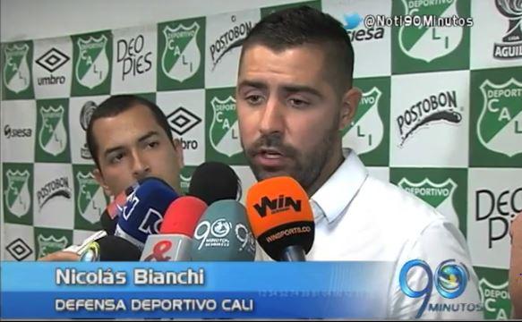 Deportivo Cali presentó a su nuevo refuerzo Nicolás Bianchi