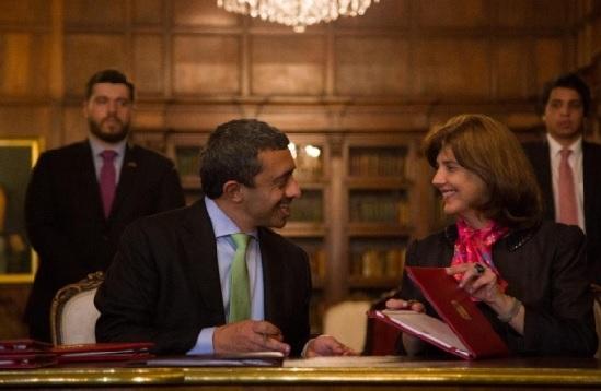 Colombia y Emiratos Árabes firmaron ocho acuerdos de cooperación