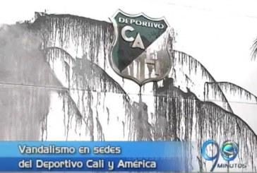 Dos vándalos atacaron sedes del Deportivo Cali y el América