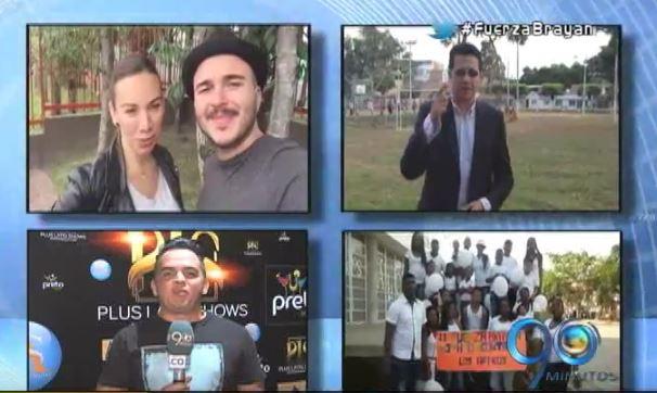 Artistas y deportistas se suman para dar su apoyo a Brayan