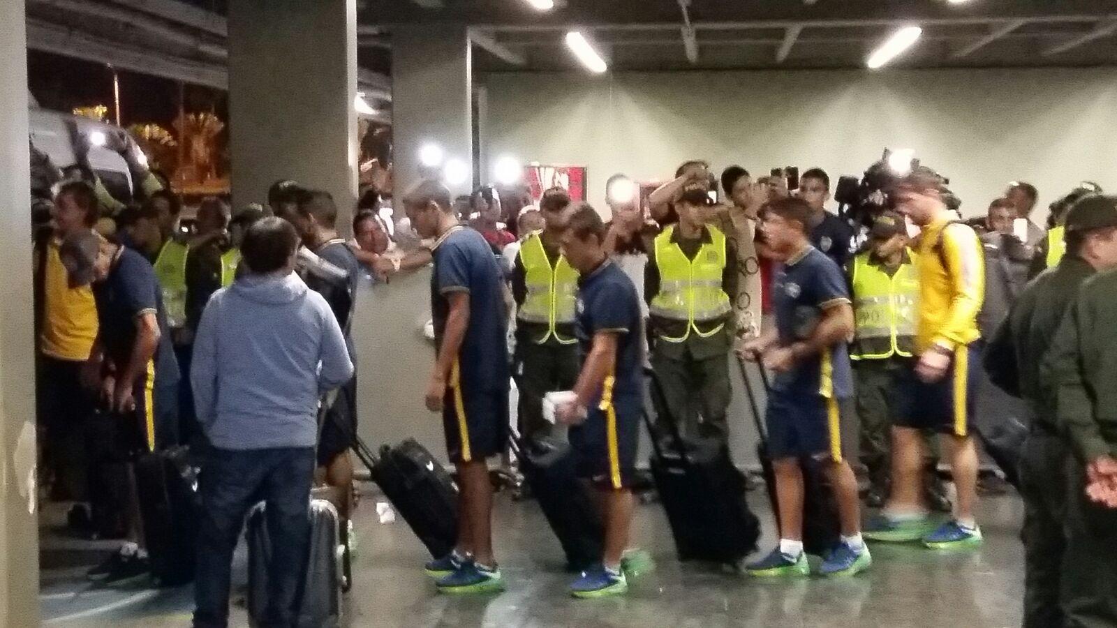 Boca Juniors llegó a Cali para el debut en Copa Libertadores