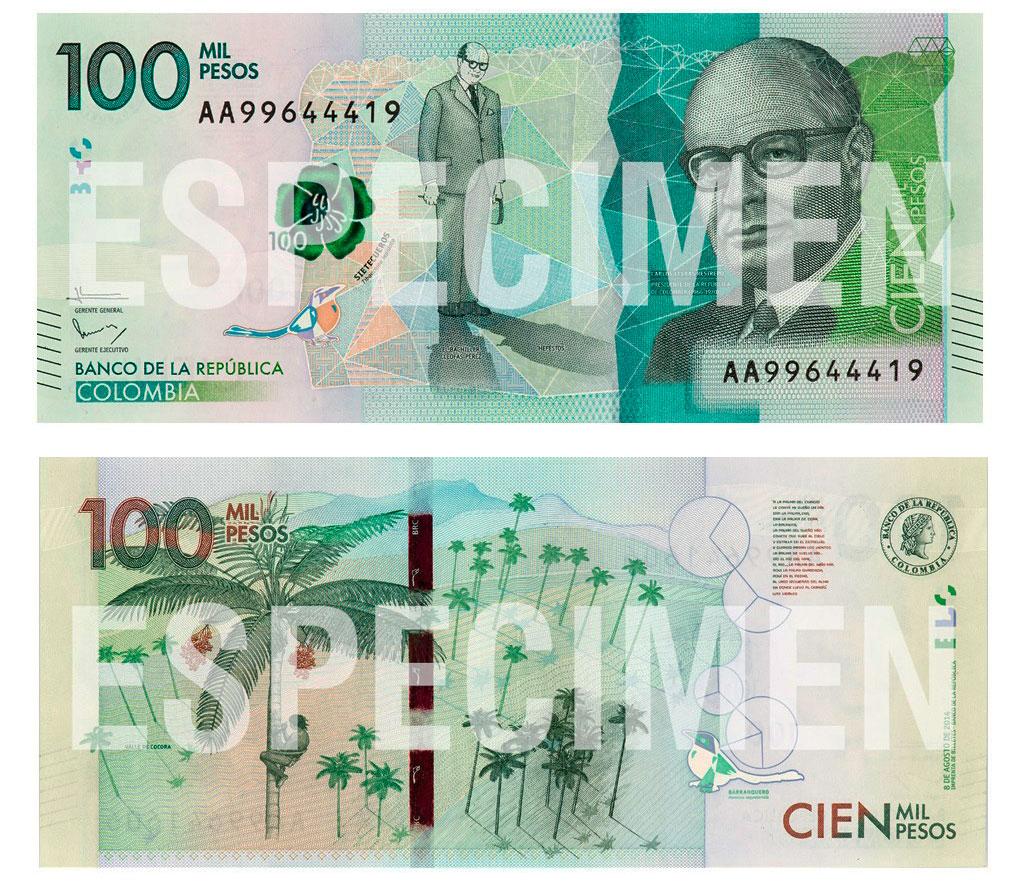 Billete de 100.000 pesos empieza a circular desde este jueves