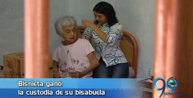 Bisnieta logró la custodia de su bisabuela víctima de maltrato
