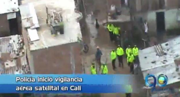 Policía Metropolitana de Cali inicia plan de vigilancia aérea satelital