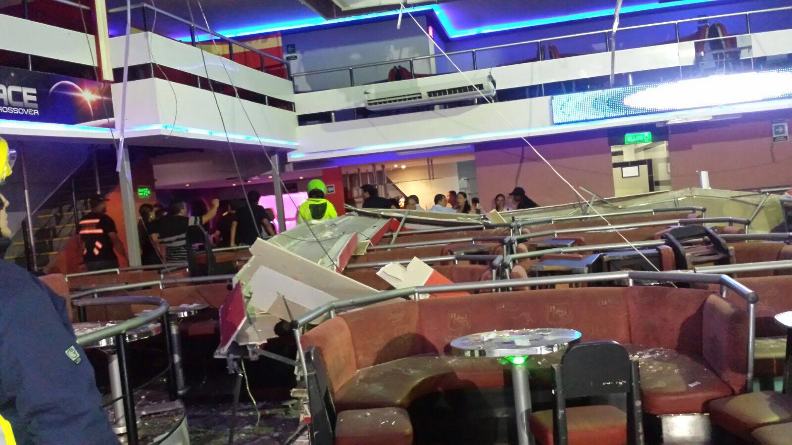Desplome de estructura en discoteca de Menga deja lesionados