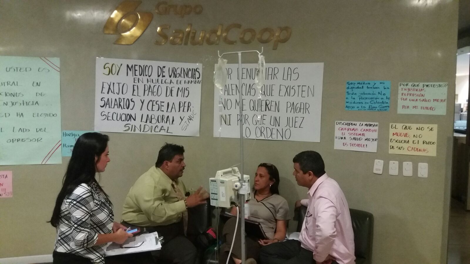 Por problemas de salud la médica Guerrero levanta huelga de hambre