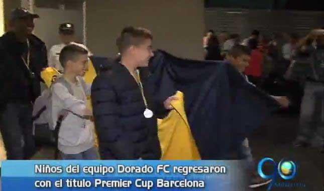 Llegó el equipo infantil Dorado FC con título de la Barcelona Premier Cup