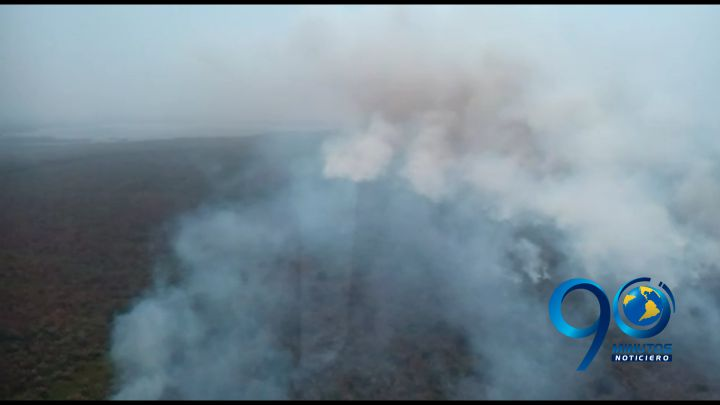 Incendio forestal en reserva natural del Chocó completa 26 días