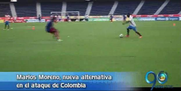 Marlos Moreno, alternativa en el ataque de Colombia mañana ante Ecuador