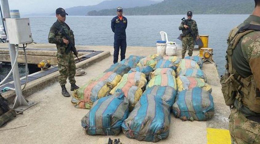 Autoridades colombianas se incautan 550 kilos de marihuana en Nuquí, Chocó