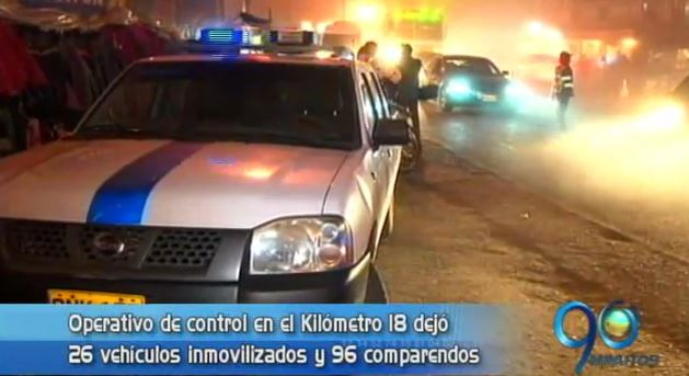 Operativos de control en el Km. 18 dejaron 26 vehículos inmovilizados