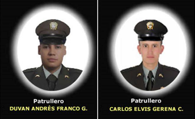 Atribuyen a ELN el asesinato a dos policías en el departamento de Nariño