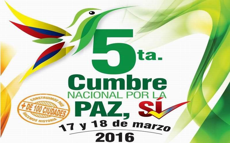 Cali será sede de la Quinta Cumbre Nacional por la Paz