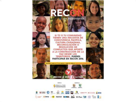 Hasta el 17 de Marzo estará abierta la convocatoria RecOn, Paz en Movimiento