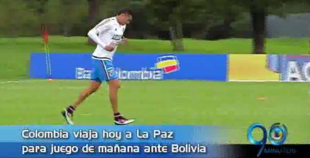 Colombia viaja hoy a La Paz para enfrentar mañana a Bolivia