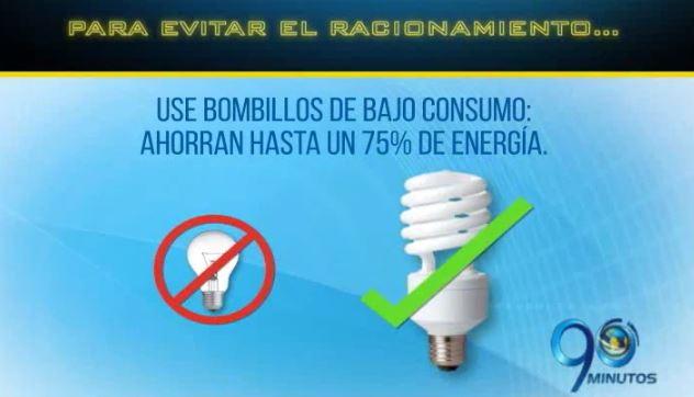 90 minutos le da algunas sugerencias para ahorrar energía