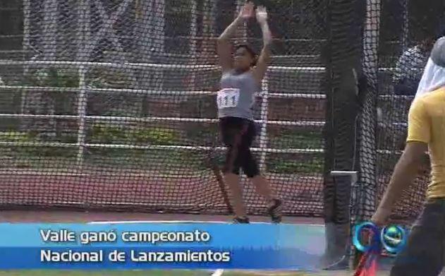 Valle ganó campeonato nacional de Lanzamientos en atletismo