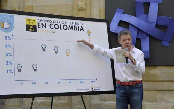 Los colombianos ahorraron este lunes un 6,22 % de energía
