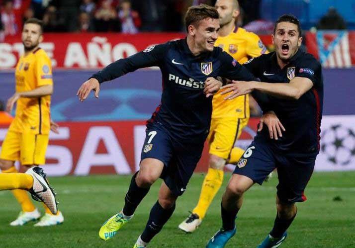 Atlético de Madrid eliminó al Barcelona y avanzó a semifinales de Champions