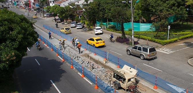 Iniciaron obras en el carril derecho de la Autopista Suroriental