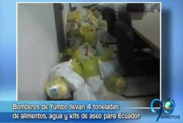 Bomberos de Yumbo se solidarizan con los damnificados de Ecuador