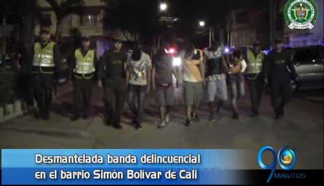 Policía desmantela banda de microtráfico en el barrio Simón Bolívar