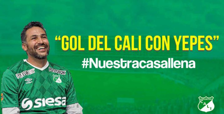 "Deportivo Cali invita a su hinchada con la campaña ""Gol del Cali con Yepes"""