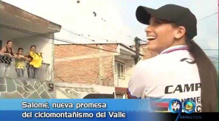 Florida, Valle, le dio bienvenida a su campeona de ciclomontañismo