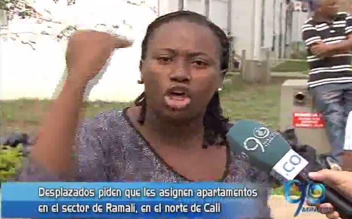 Desplazados denuncian maltrato de Esmad en Ramalí