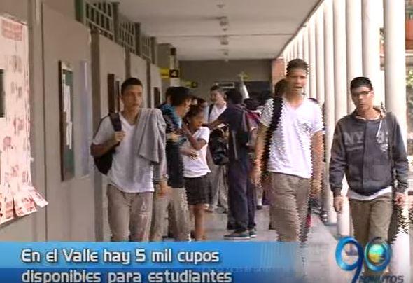 Hay 5 mil cupos gratuitos disponibles para estudiantes