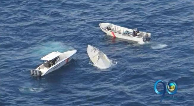 Interceptan semisumergible con 6 toneladas de cocaína en Pacifico nariñense