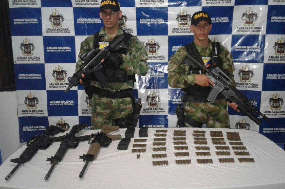 Armada incauta armamento del Clan Úsuga en Tumaco, Nariño