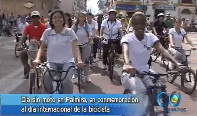 En Palmira estuvo de fiesta con el Dia Internacional de la Bicicleta
