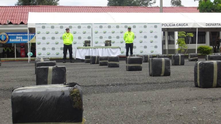 Policía incautó 200 toneladas de marihuana en Caloto